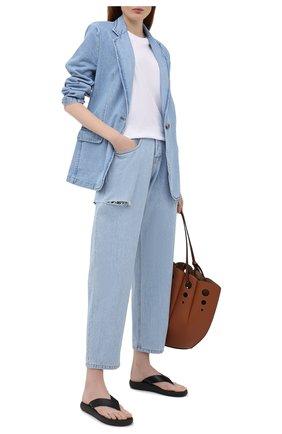 Женские джинсы FORTE DEI MARMI COUTURE синего цвета, арт. 21SF9057 | Фото 2
