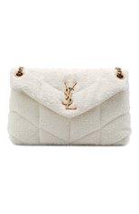 Женская сумка puffer loulou small SAINT LAURENT белого цвета, арт. 577476/2RL27   Фото 1