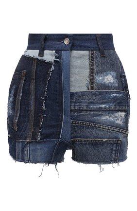 Женские джинсовые шорты DOLCE & GABBANA темно-синего цвета, арт. FTBVJD/GDY73 | Фото 1 (Длина Ж (юбки, платья, шорты): Мини; Материал внешний: Хлопок; Женское Кросс-КТ: Шорты-одежда; Кросс-КТ: Деним; Стили: Гранж)