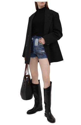 Женские джинсовые шорты DOLCE & GABBANA темно-синего цвета, арт. FTBVJD/GDY73 | Фото 2 (Длина Ж (юбки, платья, шорты): Мини; Материал внешний: Хлопок; Женское Кросс-КТ: Шорты-одежда; Кросс-КТ: Деним; Стили: Гранж)
