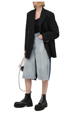 Женские кожаные ботинки 20 мм strike BALENCIAGA черного цвета, арт. 590974/WA964 | Фото 2