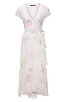 Женское платье из вискозы POLO RALPH LAUREN розового цвета, арт. 211837981 | Фото 1