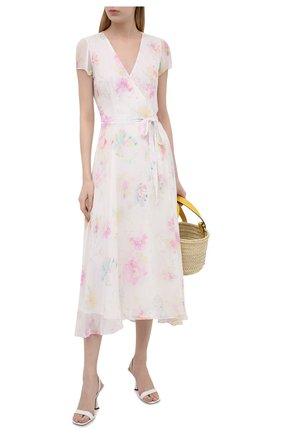 Женское платье из вискозы POLO RALPH LAUREN розового цвета, арт. 211837981 | Фото 2
