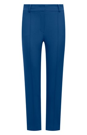 Женские шерстяные брюки LORO PIANA синего цвета, арт. FAL6282   Фото 1 (Материал внешний: Шерсть; Силуэт Ж (брюки и джинсы): Узкие; Женское Кросс-КТ: Брюки-одежда; Стили: Кэжуэл; Длина (брюки, джинсы): Укороченные)