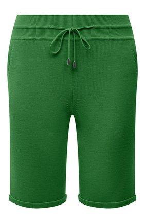 Женские шорты из шелка и хлопка LORO PIANA зеленого цвета, арт. FAI1072 | Фото 1