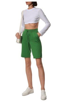 Женские шорты из шелка и хлопка LORO PIANA зеленого цвета, арт. FAI1072 | Фото 2