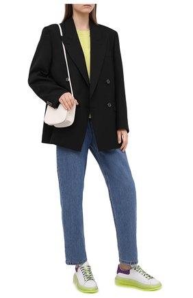 Женские кожаные кеды ALEXANDER MCQUEEN разноцветного цвета, арт. 612744/WIA4G   Фото 2
