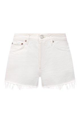 Женские джинсовые шорты AGOLDE белого цвета, арт. A026B-1183 | Фото 1
