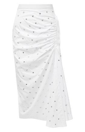 Женская хлопковая юбка N21 белого цвета, арт. 21E N2M0/C054/0605   Фото 1