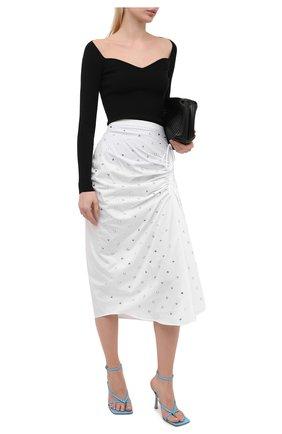 Женская хлопковая юбка N21 белого цвета, арт. 21E N2M0/C054/0605   Фото 2