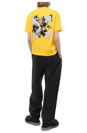 Женская хлопковая футболка OFF-WHITE желтого цвета, арт. 0WAA089S21JER001   Фото 2