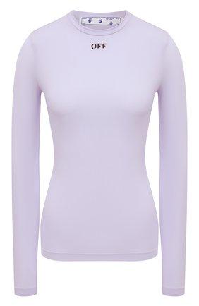 Женская лонгслив OFF-WHITE сиреневого цвета, арт. 0WAD136S21JER001 | Фото 1