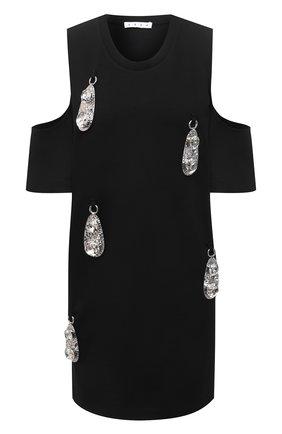 Женское платье из вискозы AREA черного цвета, арт. RE21D17003 | Фото 1