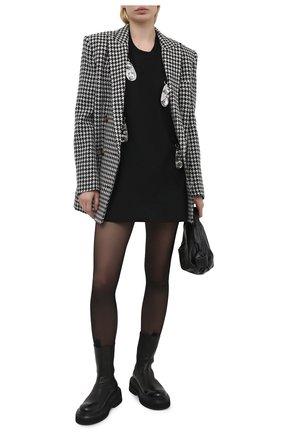 Женское платье из вискозы AREA черного цвета, арт. RE21D17003 | Фото 2