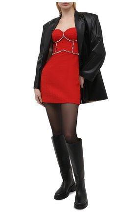 Женское шерстяное платье AREA красного цвета, арт. RE21D13095 | Фото 2