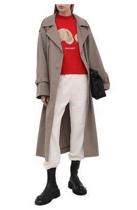 Женский хлопковый свитшот PALM ANGELS красного цвета, арт. PWBA016S21FLE0012560   Фото 2