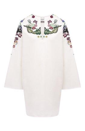 Женское хлопковое платье VALENTINO белого цвета, арт. VB3VAV1275Y | Фото 1