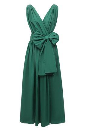 Женское хлопковое платье DOLCE & GABBANA зеленого цвета, арт. F6P0LT/FU5K9 | Фото 1