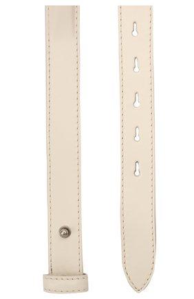 Женский кожаный ремень ALEXANDER MCQUEEN кремвого цвета, арт. 660515/1BRBB | Фото 2 (Материал: Кожа)
