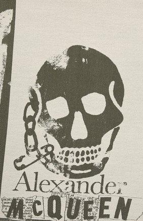 Женский шерстяной шарф ALEXANDER MCQUEEN хаки цвета, арт. 658057/3200Q | Фото 2
