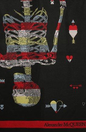 Женский шерстяной шарф ALEXANDER MCQUEEN черного цвета, арт. 656749/3200Q | Фото 2 (Материал: Шерсть)