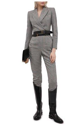 Женский шерстяной комбинезон ALEXANDER MCQUEEN серого цвета, арт. 649775/QJAB0 | Фото 2
