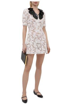 Женское платье из хлопка и вискозы SAINT LAURENT белого цвета, арт. 648188/Y408G | Фото 2