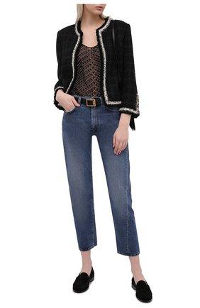 Женский жакет из шерсти и шелка SAINT LAURENT черного цвета, арт. 653214/Y5C78 | Фото 2