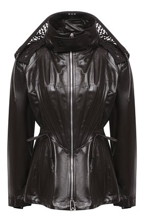 Женская кожаная куртка BOTTEGA VENETA темно-коричневого цвета, арт. 662465/VKLC0 | Фото 1