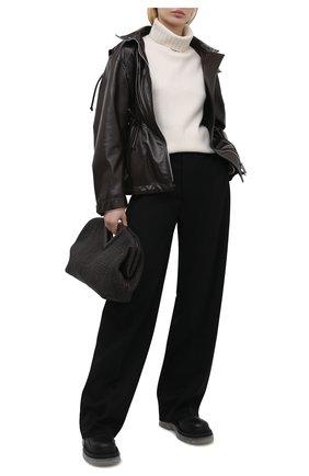 Женская кожаная куртка BOTTEGA VENETA темно-коричневого цвета, арт. 662465/VKLC0 | Фото 2