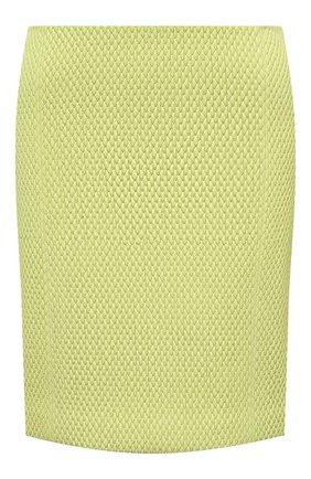 Женская кожаная юбка BOTTEGA VENETA желтого цвета, арт. 655909/V0RX0 | Фото 1