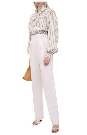 Женские шерстяные брюки RALPH LAUREN белого цвета, арт. 290840150 | Фото 2