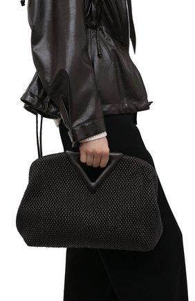 Женская сумка medium point BOTTEGA VENETA темно-коричневого цвета, арт. 658720/V0TB1 | Фото 2