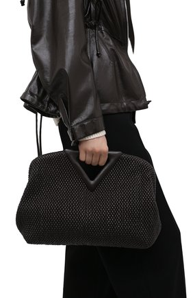 Женская сумка triangle medium BOTTEGA VENETA темно-коричневого цвета, арт. 658720/V0TB1 | Фото 2
