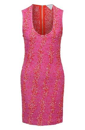Женское платье из вискозы BOTTEGA VENETA розового цвета, арт. 656496/V0YU0 | Фото 1