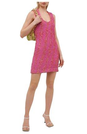 Женское платье из вискозы BOTTEGA VENETA розового цвета, арт. 656496/V0YU0 | Фото 2