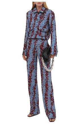 Женский жакет из вискозы BOTTEGA VENETA синего цвета, арт. 654178/V0YU0 | Фото 2
