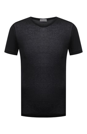 Мужская хлопковая футболка ZIMMERLI черного цвета, арт. 252/8125 | Фото 1