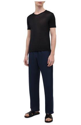 Мужская хлопковая футболка ZIMMERLI черного цвета, арт. 252/8125 | Фото 2