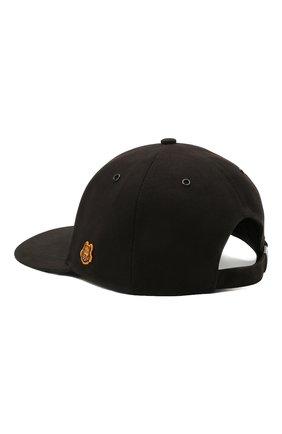 Мужской хлопковая бейсболка KENZO черного цвета, арт. FB55AC401F34 | Фото 2