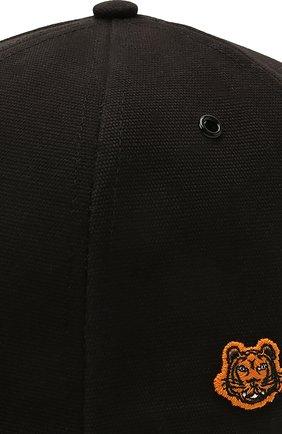 Мужской хлопковая бейсболка KENZO черного цвета, арт. FB55AC401F34 | Фото 3