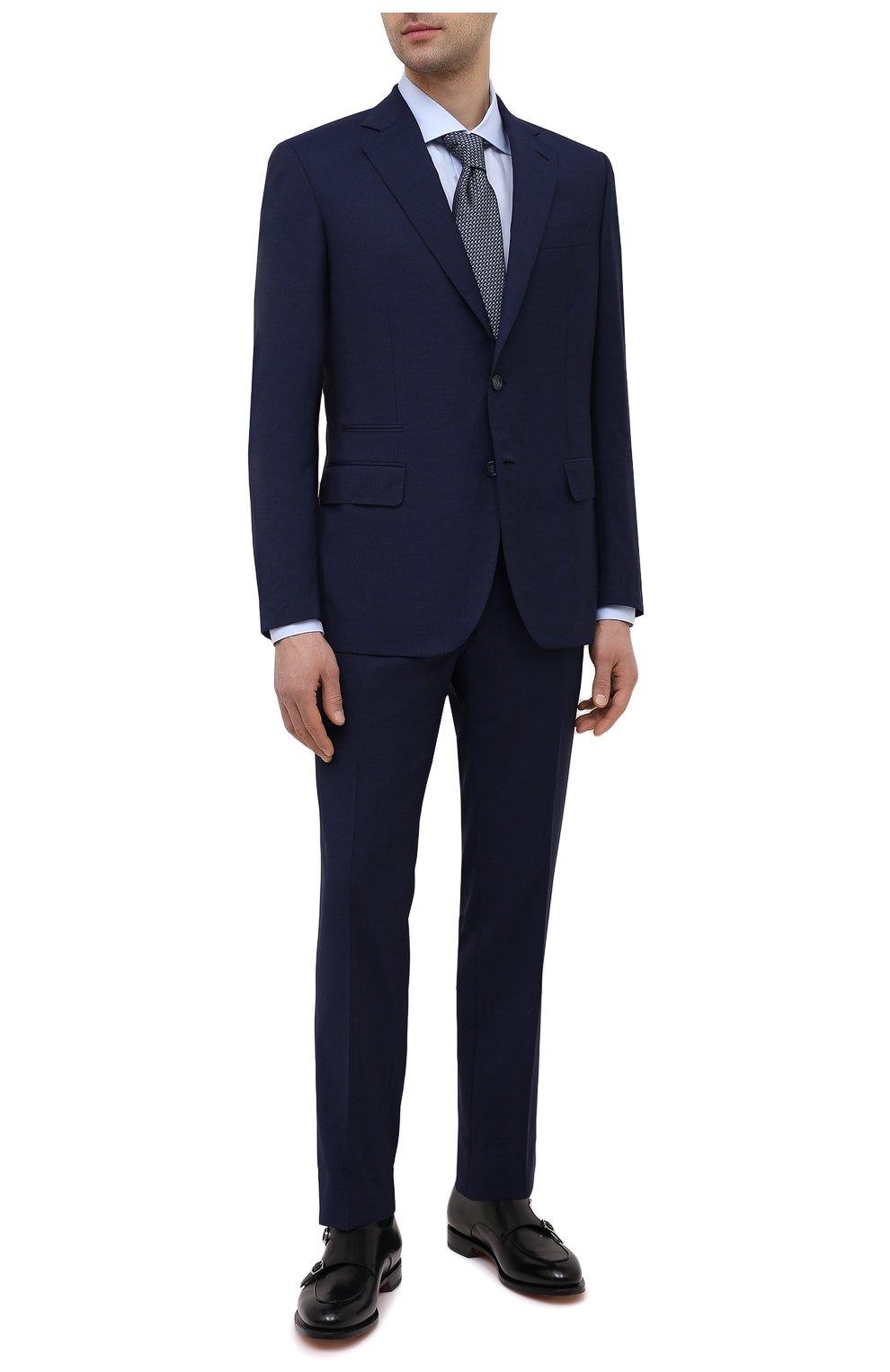 Мужской шерстяной костюм BRIONI синего цвета, арт. RA0B0U/P0A15/PRE C0UTURE | Фото 1