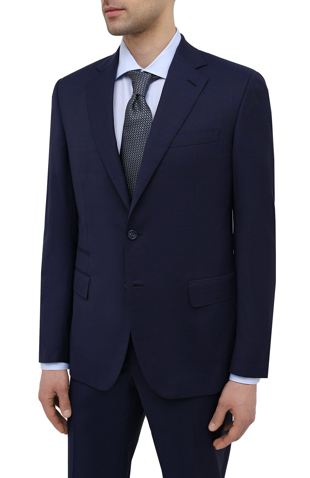 Мужской шерстяной костюм BRIONI синего цвета, арт. RA0B0U/P0A15/PRE C0UTURE | Фото 2