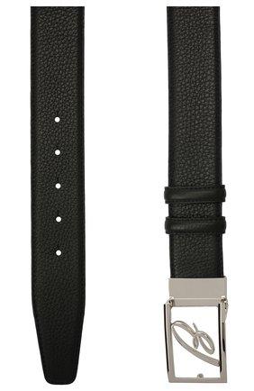 Мужской кожаный ремень BRIONI черного цвета, арт. 0BAS0L/09719 | Фото 2