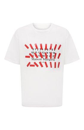 Мужская хлопковая футболка MAISON MARGIELA белого цвета, арт. S30GC0731/S23935 | Фото 1
