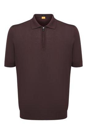 Мужское шелковое поло SVEVO коричневого цвета, арт. 3501/BSE21/MP35   Фото 1