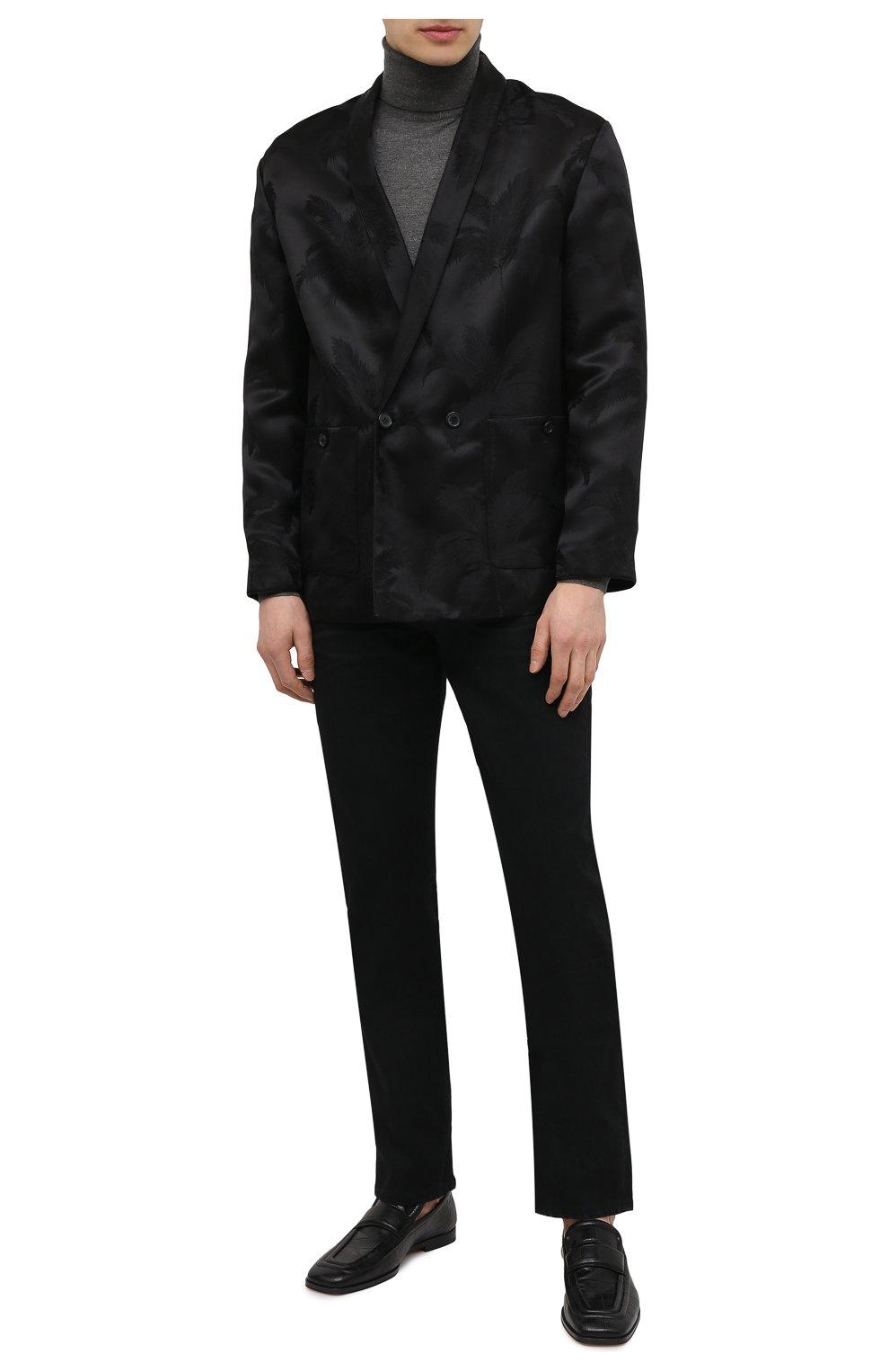 Мужские джинсы TOM FORD черного цвета, арт. BWJ50/TFD002   Фото 2