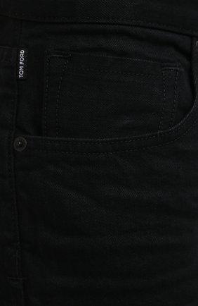 Мужские джинсы TOM FORD черного цвета, арт. BWJ50/TFD002   Фото 5