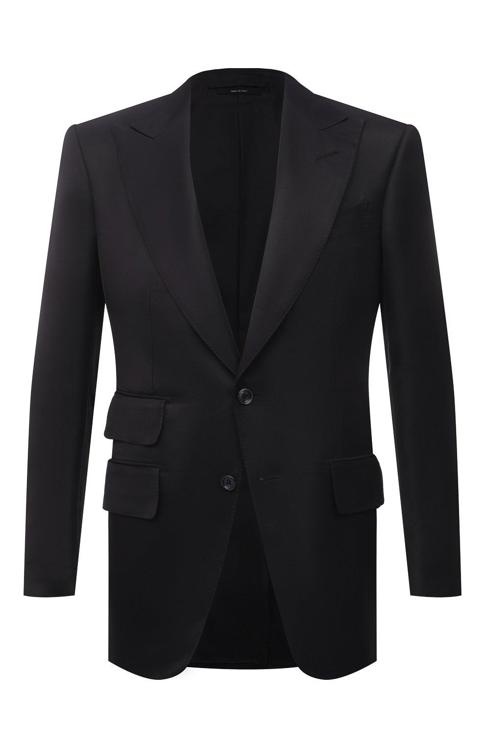Мужской пиджак из вискозы TOM FORD черного цвета, арт. 979R07/11ML40   Фото 1