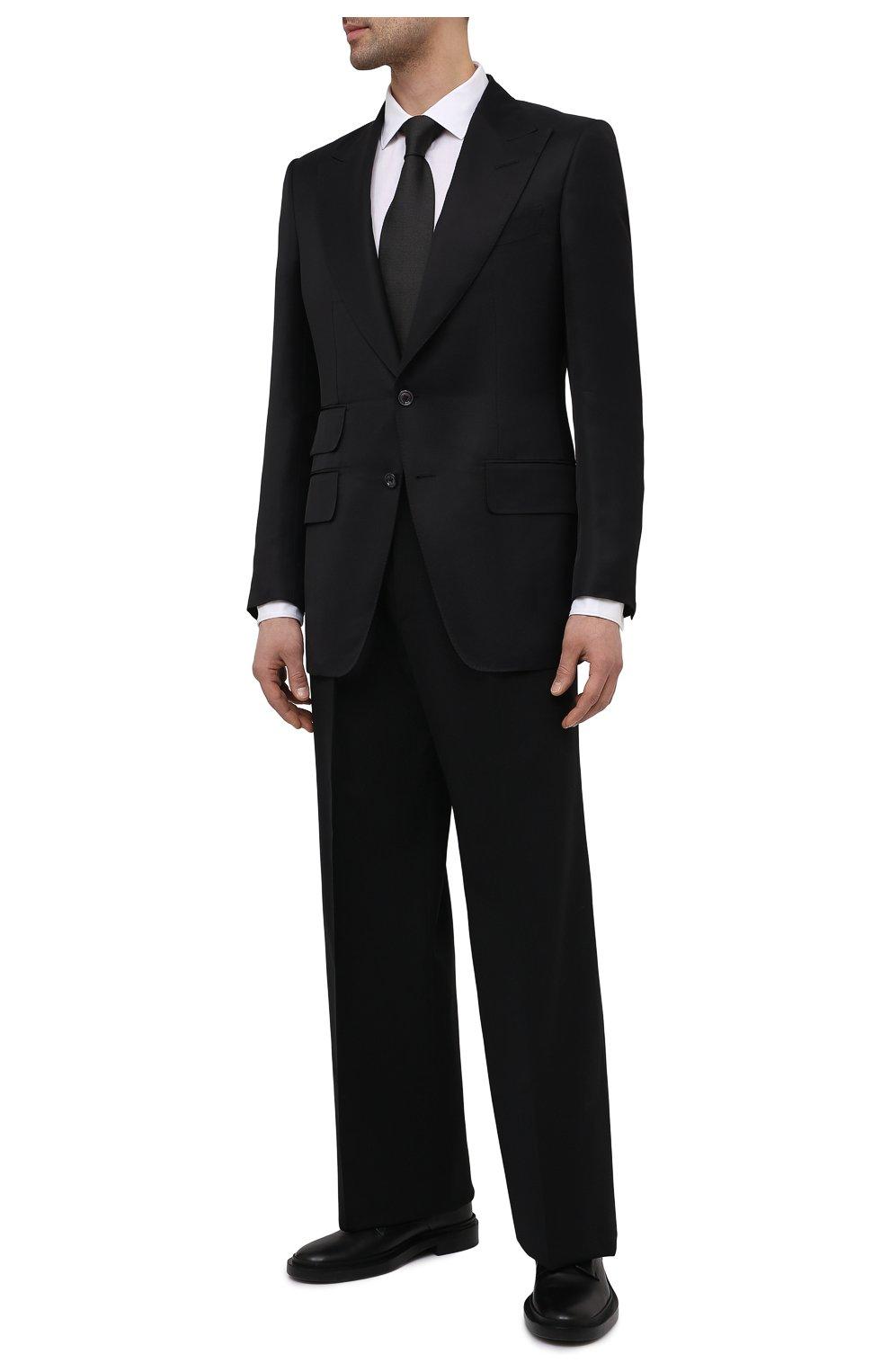 Мужской пиджак из вискозы TOM FORD черного цвета, арт. 979R07/11ML40   Фото 2